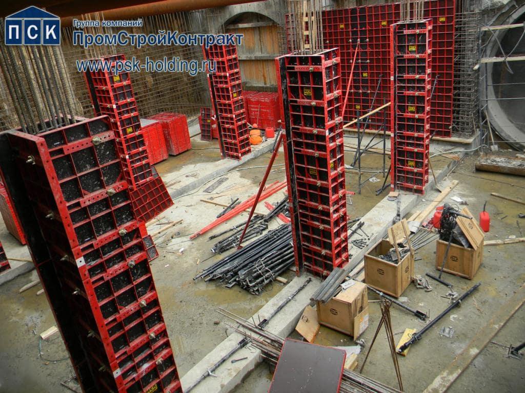 Опалубка модульная МСК на строительстве метро