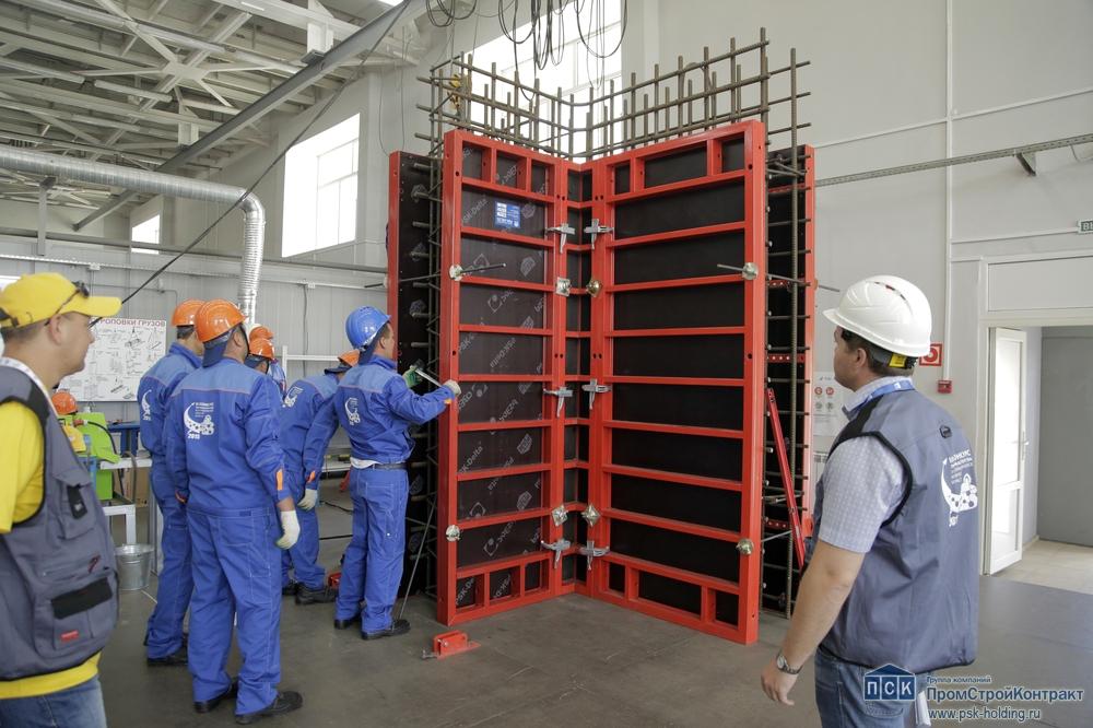Работа строителей-атомщиков с российской опалубкой PSK-DELTA